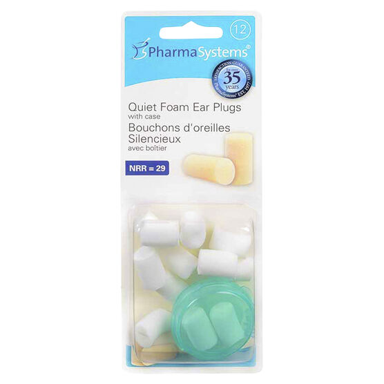 PharmaSystems uHear Quiet Foam Ear Plugs - White - 12's