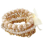 Haskell Multi Stretch Bracelet Set - Multi/Gold