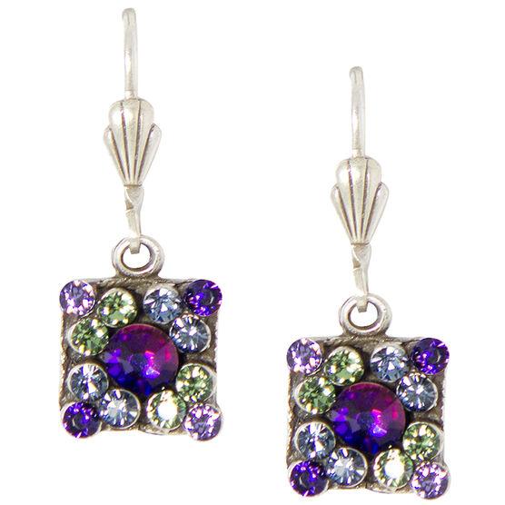 Anne Koplik Small Multi-Coloured Square Earrings