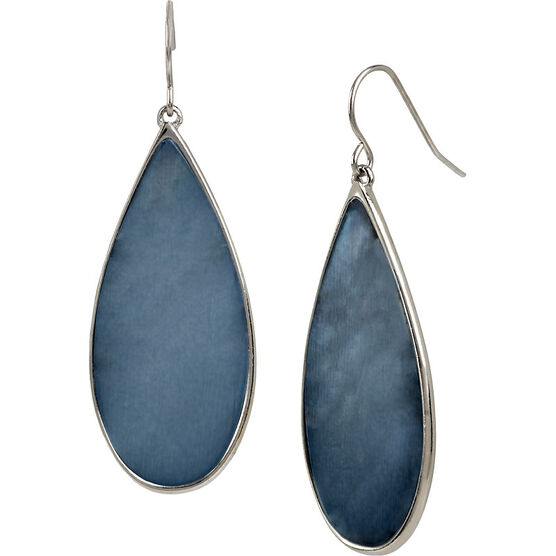 Kenneth Cole Teardrop Earrings - Blue/Rhodium