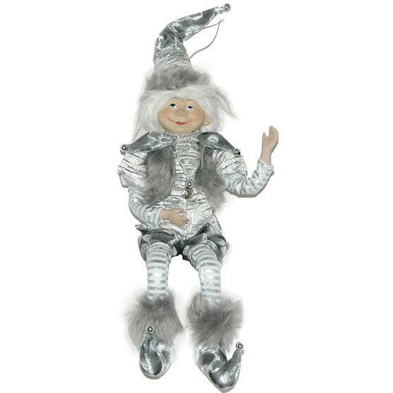 Christmas Forever Poseable Elf - 18in - Grey/Silver - XM-VS1541SP