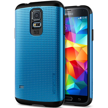 Spigen Slim Armor Case for Samsung Galaxy S5 -Electric Blue - SGP10754
