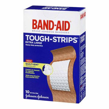 Johnson & Johnson Band-Aid Tough-Strips - Extra Large - 10's