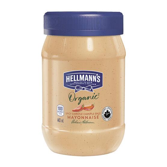 Hellmann's Organic Mayonnaise - Chipotle - 443ml