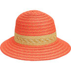 Bellezza Sun Hat with Band - Coral/Gold