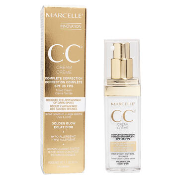 Marcelle CC Cream SPF 35 Complete Correction - Golden Glow - 30ml