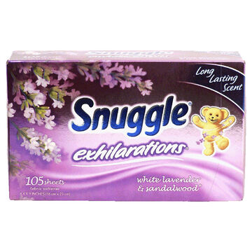 Snuggle Fabric Softener Sheets - Lavender and Sandalwood - 105's