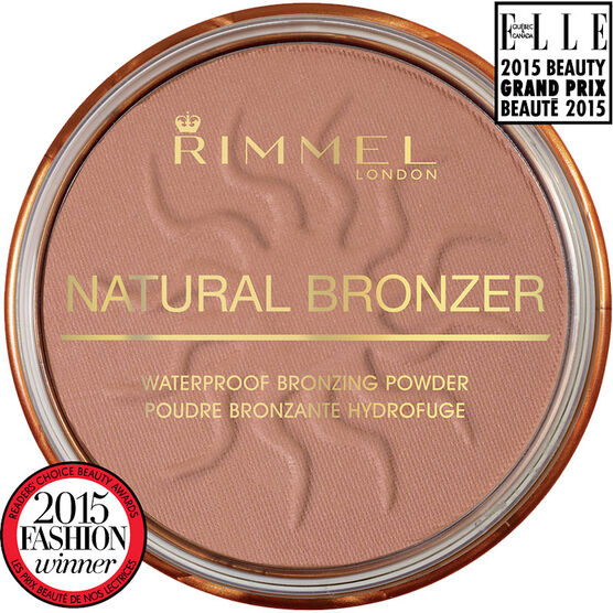Rimmel Natural Bronzer Waterproof Bronzing Powder - Sun Light