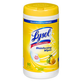 Lysol Disinfecting Wipes - Citrus - 80's