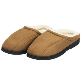 Perry Ellis Men's Microsuede Clog - Tan - Size 11-12