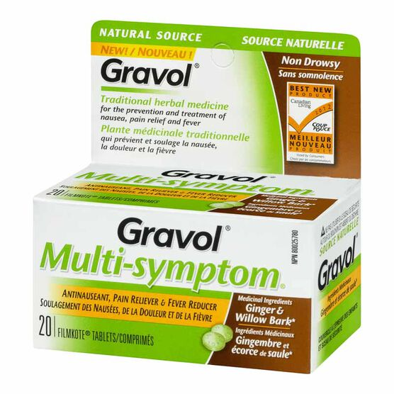 Gravol Natural Source Multi-Symptom Tablets - 20's