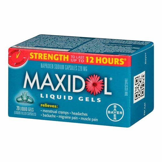 Midol Maxidol Liquid Gels - 20's