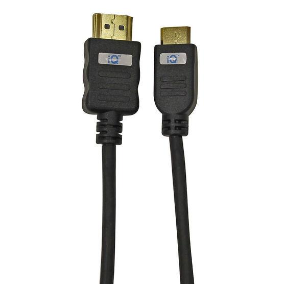 iQ HDMI to Mini HDMI Cable - Black - IQMINIHD2