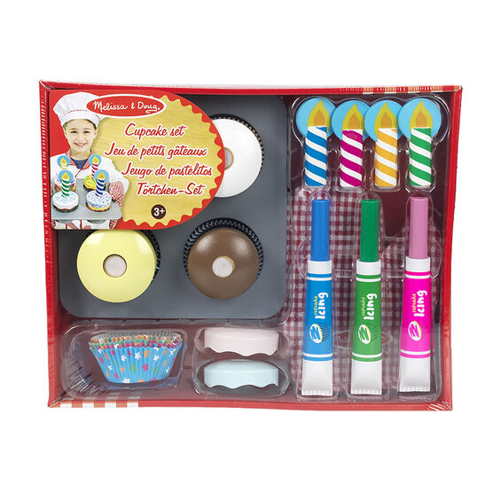 Melissa & Doug - Wooden Cupcake Set