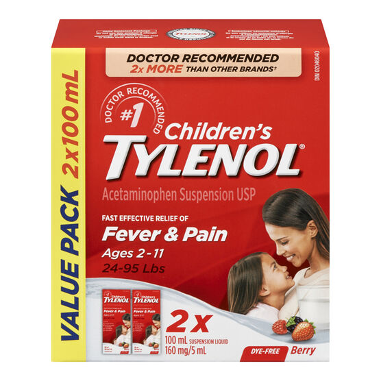 Tylenol* Children's Liquid - Berry - 2 x 100ml