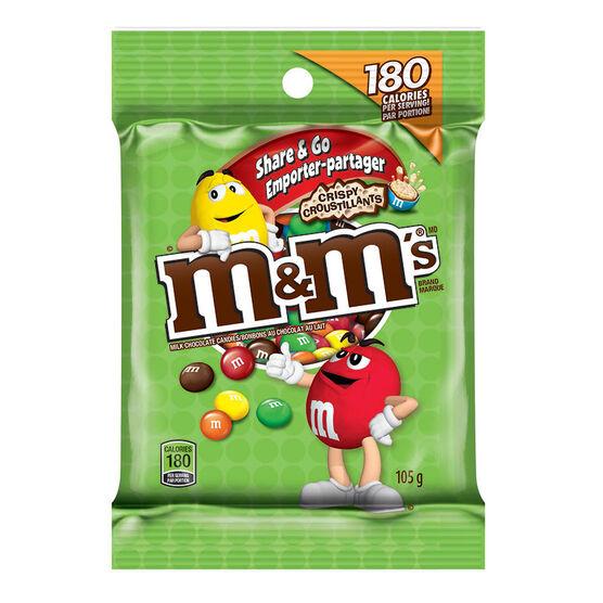 M&M's Share & Go Bag - Crispy - 105g