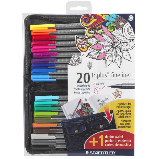 Staedtler Triplus Fineliner - 20 pack