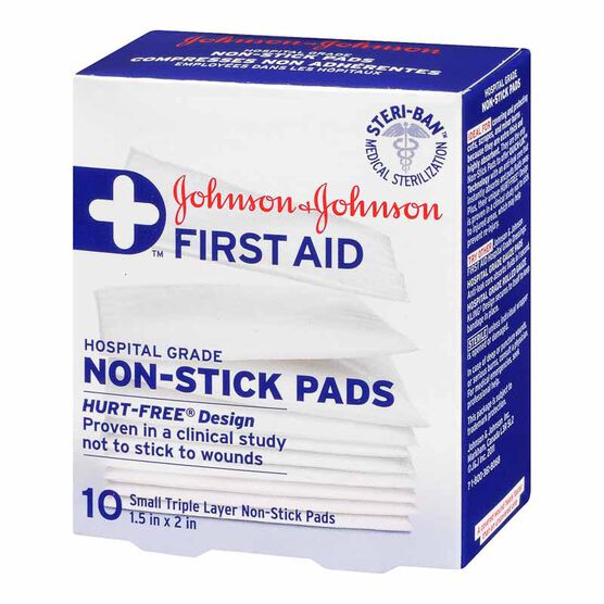 Johnson & Johnson Non-Stick Pads - 3.75 x 5cm