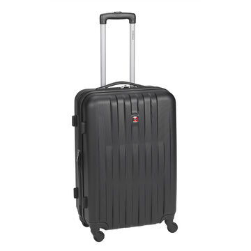 """Swiss Gear Entremont Collection Hardside 24"""" Upright Suitcase - Black"""
