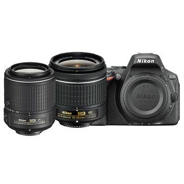 Nikon D5500 with AF-P DX 18-55mm VR and AF-S DX 55-200mm VR II Lens - PKG 24658
