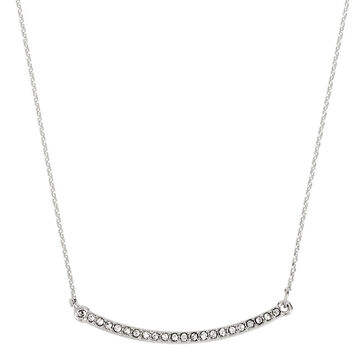 Kenneth Cole Pave Bar Necklace - Crystal/Silver Plated