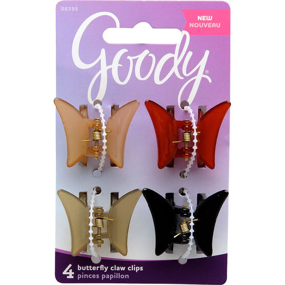 Goody Classic Soft Butterfly Claw Clips -Assorted- 8395