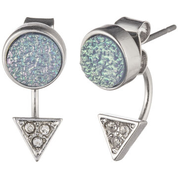Lonna & Lilly Drusy Floater Earring - Blue
