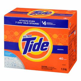Tide Ultra Powder Detergent - Original - 1.5kg / 40 Use