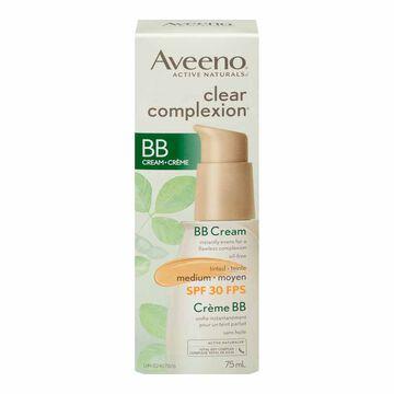 Aveeno Clear complexion BB Cream - Medium - SPF 30 - 75ml