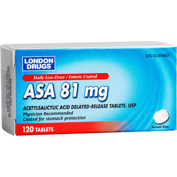 London Drugs ASA Low Dose - 81mg - 120's