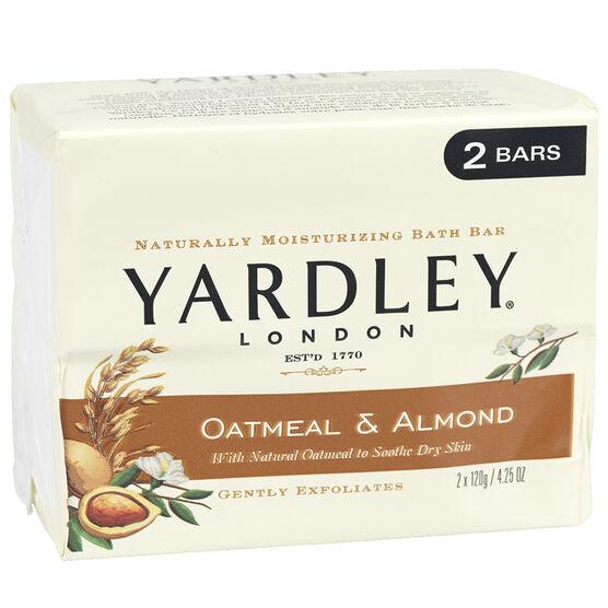 Yardley Oatmeal & Almond Bar Soap- 2 x 120g