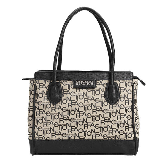 Kenneth Cole Cruise Signature Shopper - Black/Natural