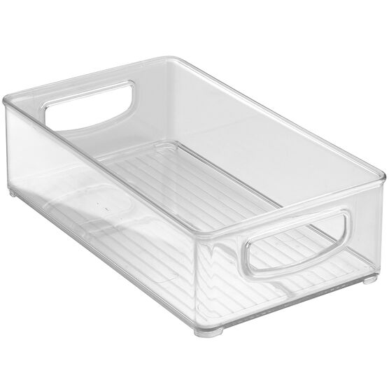 InterDesign Kitchen Storage Bin - Clear - 15.24 x 25.4 x 7.62cm