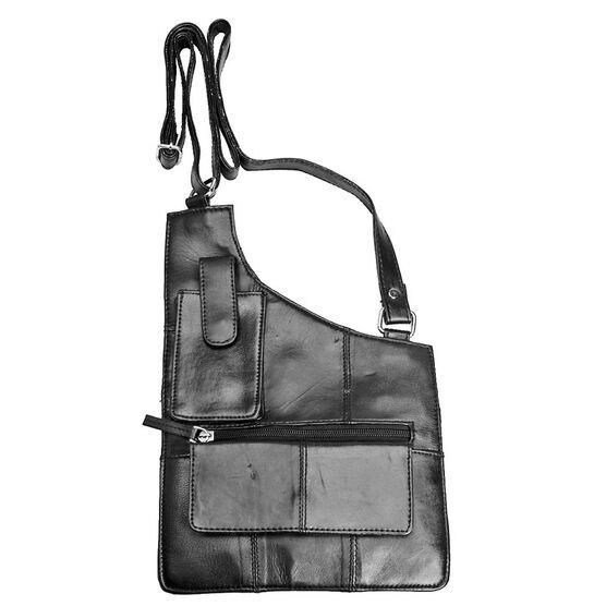 Sheepskin Shoulder Bag - Black
