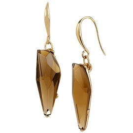 Robert Lee Morris Faux Topaz Stone Drop Earrings - Bronze
