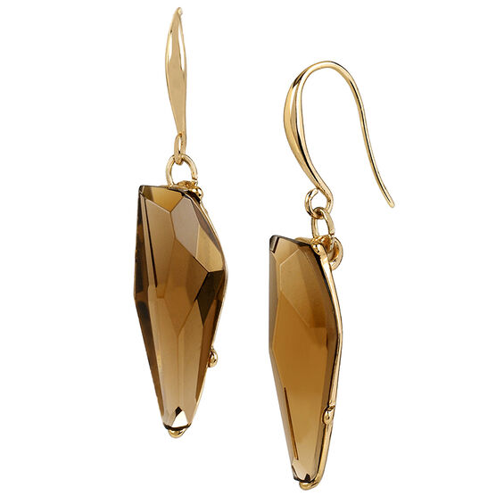 Robert Lee Morris Faux Topaz Stone Drop Earrings - Bronze