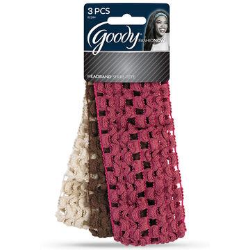 Goody FashioNow Crochet Headwraps - 3's