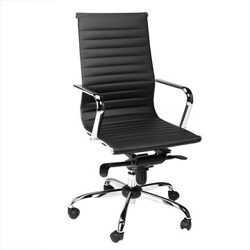 London Drugs Chrome & Polyurethane Office Chair - Black