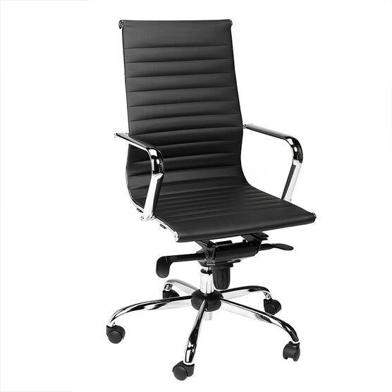 London Drugs Chrome & Polyurethane Office Chair - Black