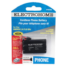 Electrohome ETA5446 phone battery - NiMH