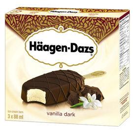 Haagen Dazs Take Home Ice Cream Bars - Vanilla Dark Chocolate - 3 x 88ml