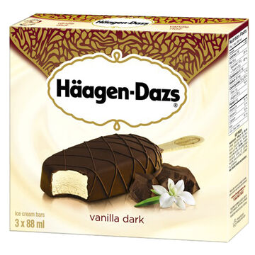 Haagen Dazs Take Home Ice Cream Bars - Vanilla Dark Chocolate - 3 x 88ml