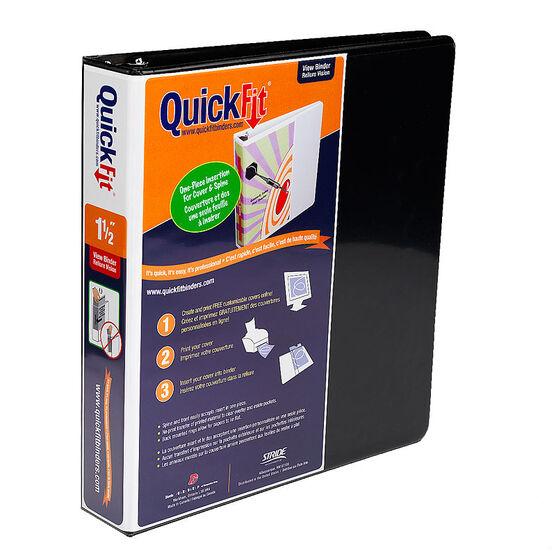 Quick Fit Binder - Black - 1.5inch