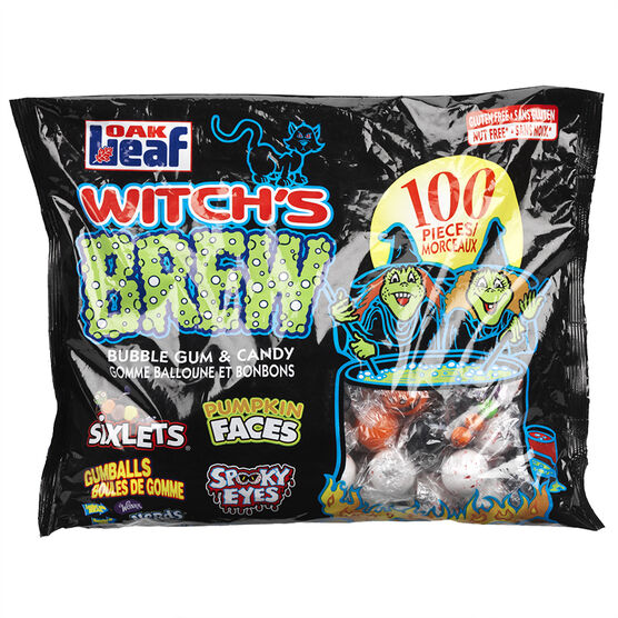 Witch's Brew Bubble Gum & Candy - 100's