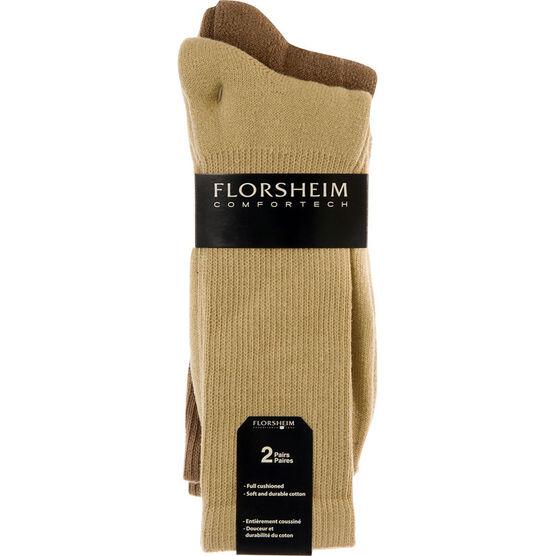 Florsheim Comfortech Men's Crew Socks - 2 pairs - Assorted