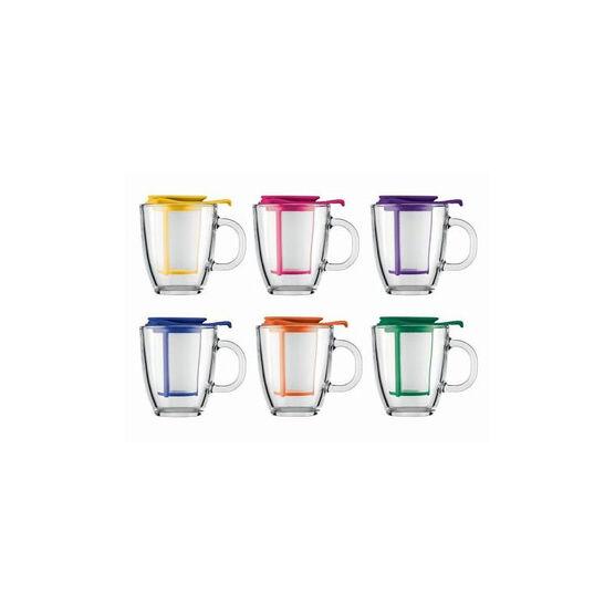 Bodum Mug and Tea Strainer - Assorted - 12oz