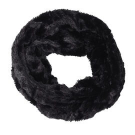 Star & Rose Faux Fur Infinity Scarf - Assorted