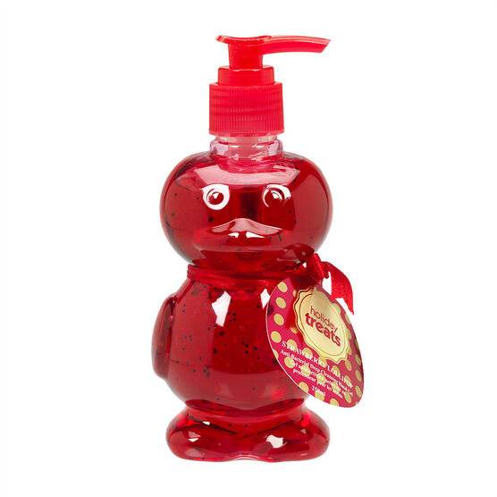 Holiday Treat Pump Hand Soap Duck - Strawberry Lollipop - 260ml