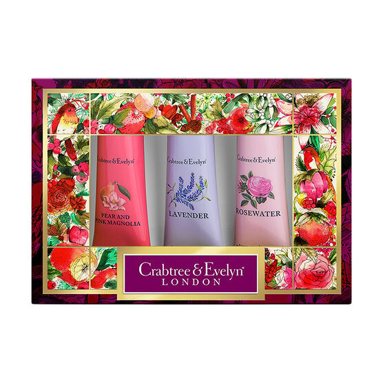 Crabtree & Evelyn Florals Hand Therapy Sampler Set - 3x25g