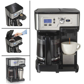 Hamilton Beach 2-Way Deluxe Coffee Maker - Black - 49983C